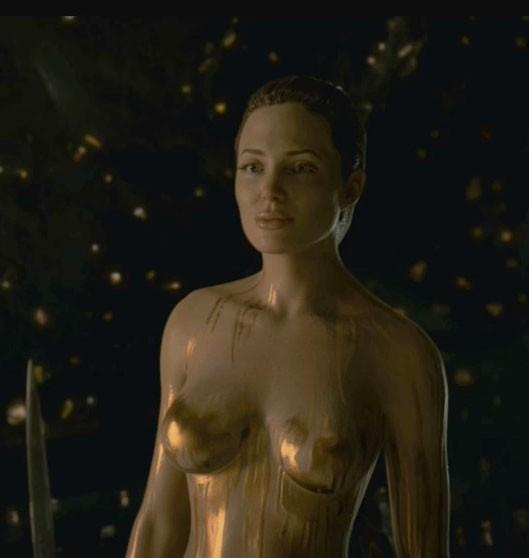 There's a shot or two of Angelina Jolie nude in the film. Need we say more?