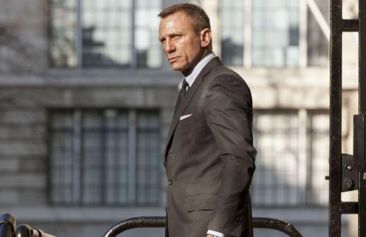 Daniel Craig on Skyfall Set