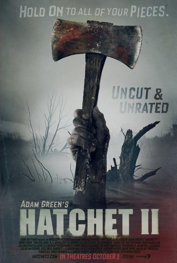 hatchet 2 poster 612x907 - En son hangi filmi izlediniz ve Ka� Puan Veriyorsunuz..