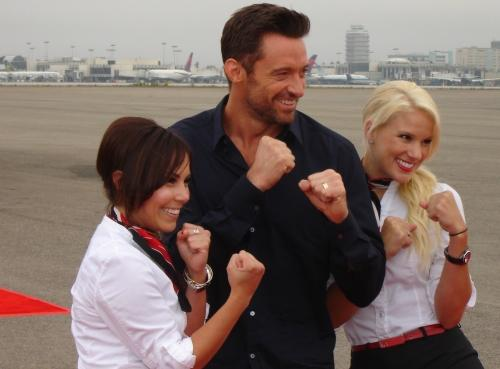 As Hugh Jackman was anointed to appear at the Virgin America Real Steel ...