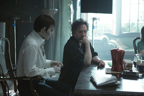 Johnny Depp and Tim Burton on Dark Shadows Set