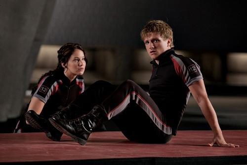 Josh Hutcherson and Jennifer Lawrence in The Hunger Games