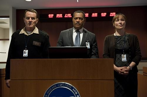 Laurence Fishburne, Bryan Cranston and Jennifer Ehle in Contagion
