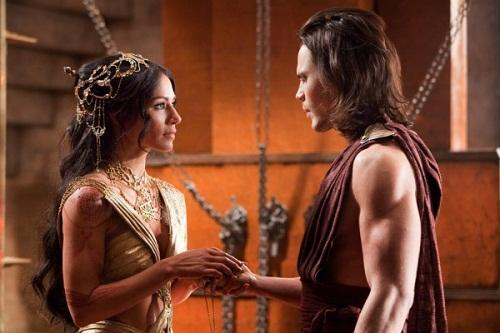 Lynn Collins and Taylor Kitsch in John Carter
