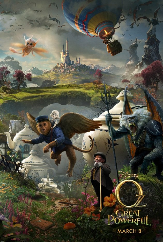 Take a peek over the rainbow in oz the great and powerful poster