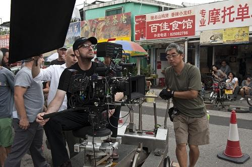 Steven Soderbergh filming Contagion